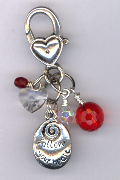 Follow Your Heart Valentine Purse Charm