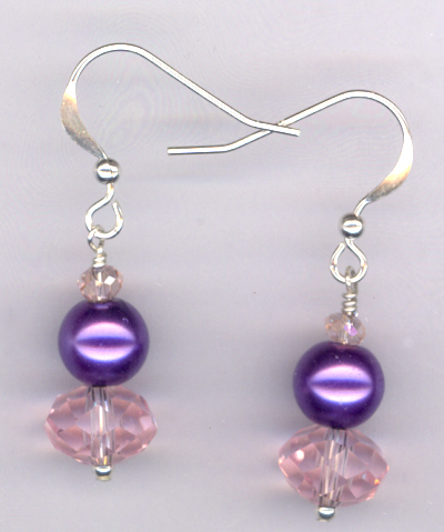 Lilla ~ Crystal Pearl Stack Earrings