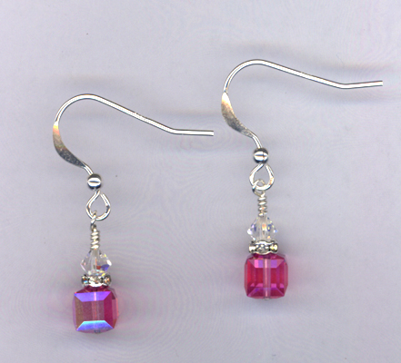 Pretty Little Pink ~ Swarovski Crystal Earrings
