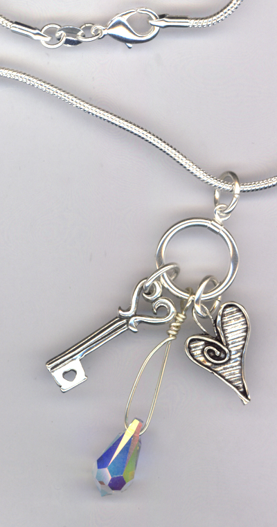 Key 2 My Heart Charm Necklace