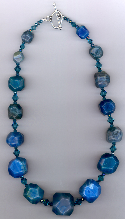 Bam Bam Blue ~ Aqua Agate Crystal Earrings