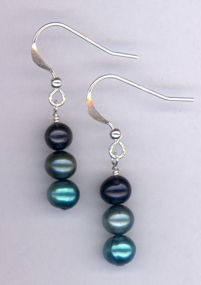 Emerald Isle ~ Layered Pearl Earrings