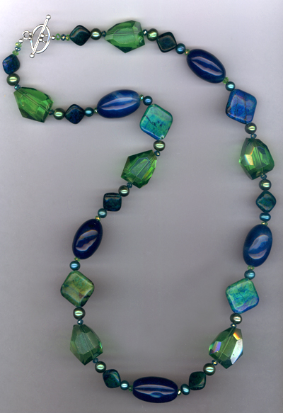 Emerald Isle Escape ~ Quartz Agate Pearl Crystal Necklace