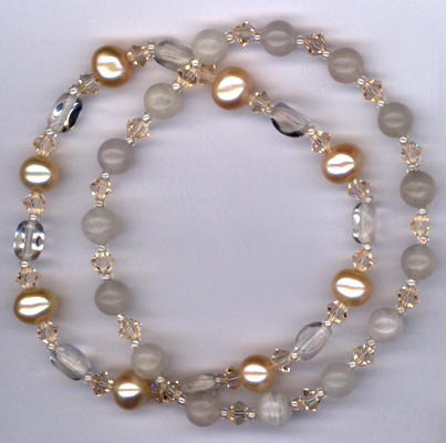 Desert Rose ~ Gemstone Crystal Stretch Bracelets