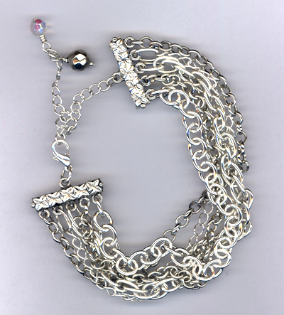 Broken ~ Silver Chain Layered Bracelet