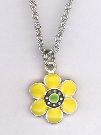 Don't Eat The Daisies ~ Yellow/Green Charm Necklace