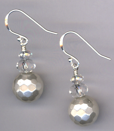 Pure ~ White Pearl Crystal Earrings