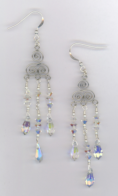 Pretty In Crystal ~ Swarovski  Bali Chandelier Earrings