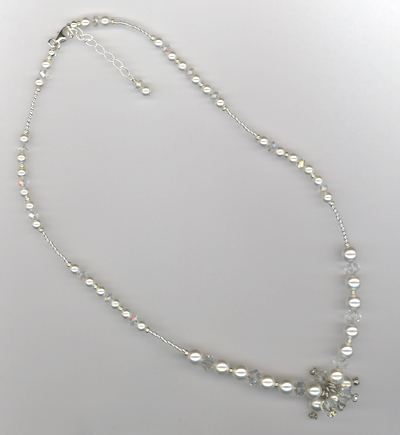 Vintage With A Twist! ~ Swarovski Pearl Crystal Necklace