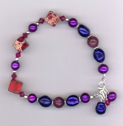 Windsor Violet ! Gemstone Pearl Bracelet