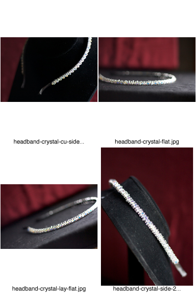 custom crystal headband contact sheet