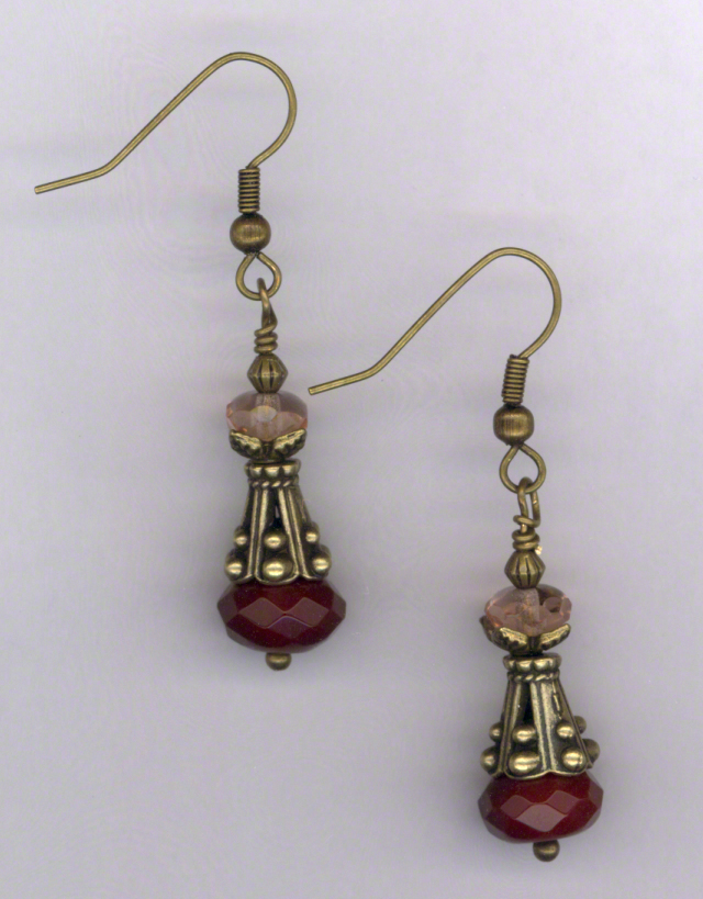 Fair Maiden ~ Gemstone Crystal Gold Earrings