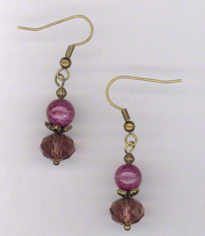 Golden Heart ~ Gemstone Crystal Beaded Earrings