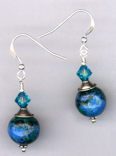 Emerald Isle Voyage ~ Sterling Silver Gemstone Crystal Earrings