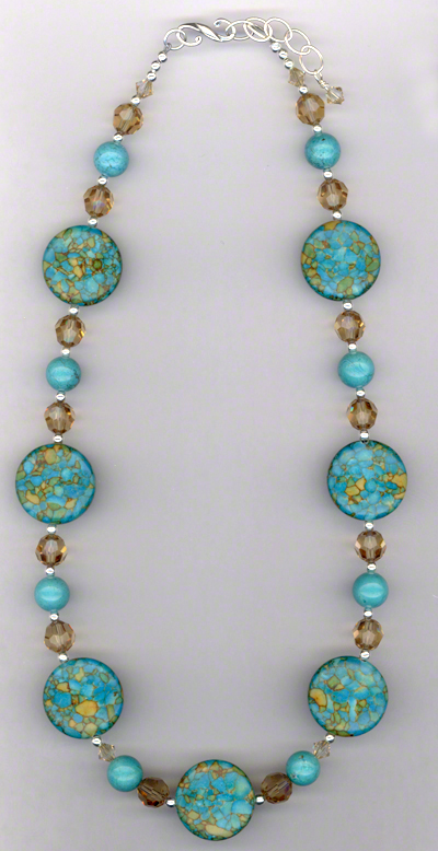 Summer Turquoise Swarovski Crystal Necklace
