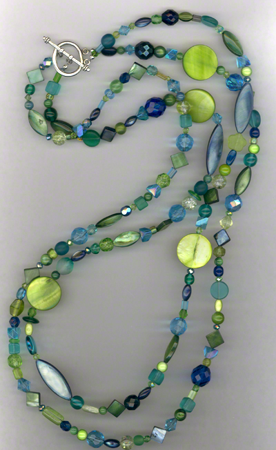 Down By The Sea ~ Chunky Shell Glass Layered Necklace