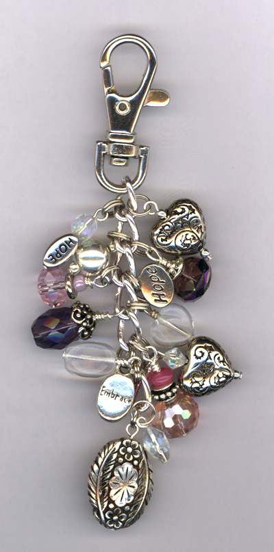 Purple Pink Purse Charm