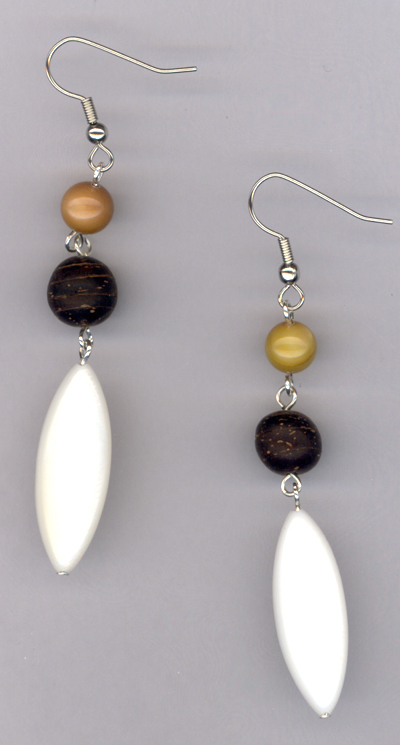 By The Seashore ~ Triple Pearl Earrings
