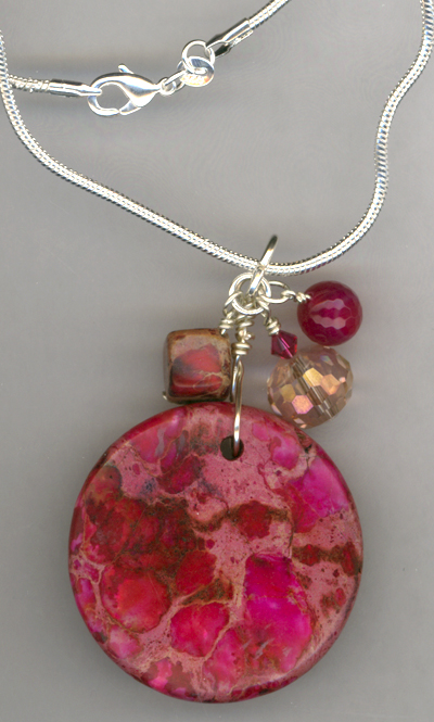 Ruby Slippers ~ Gemstone Crystal Charm Necklace