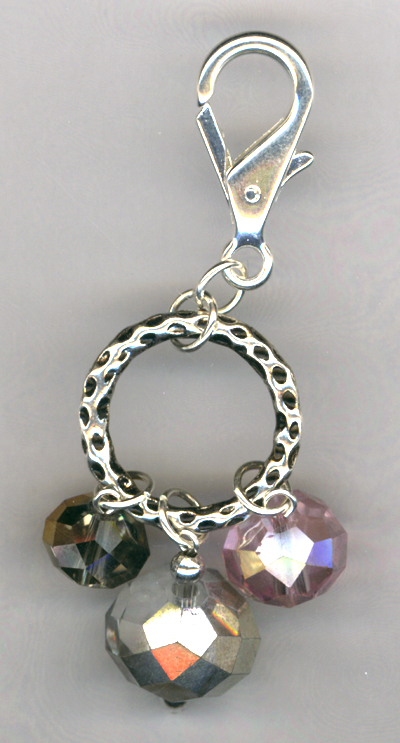 Bling! Bling! Crystal Key/Purse Charm