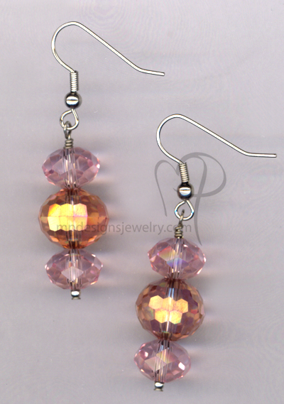 Pink Bling ~ Crystal Hypo-Allergenic Earrings