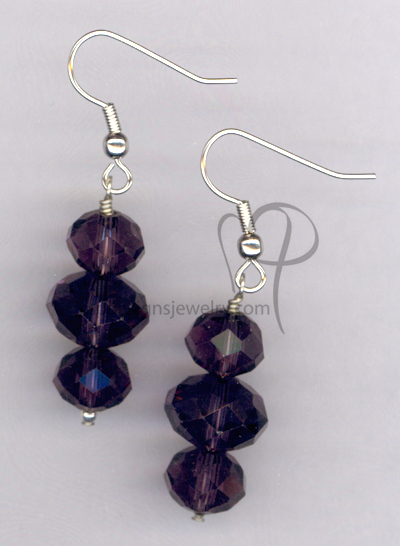 Purple Bling ~ Crystal Hypo-Allergenic Earrings