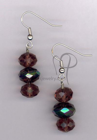 Amethyst Bling ~ Crystal Hypo-Allergenic Earrings