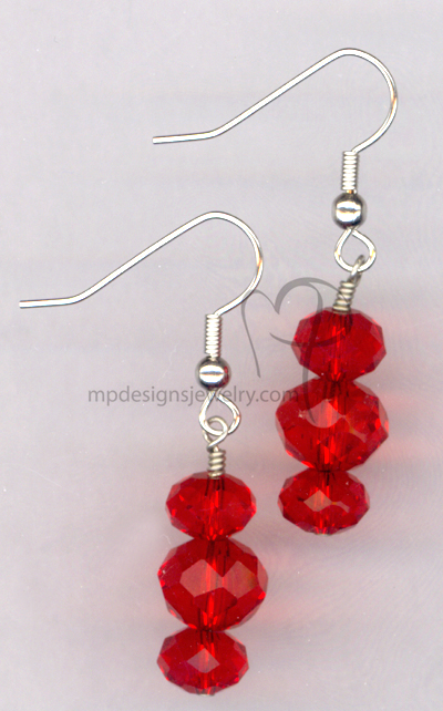Red Bling ~ Crystal Hypo-Allergenic Earrings