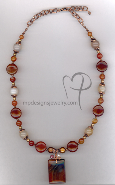 Fall In Love ~ Carnelian Gemstone Copper Necklace