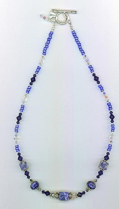 Blue Lapis Crystal necklace
