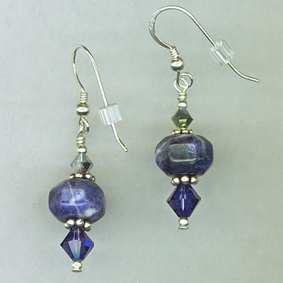 Blue Lapis Crystal earrings