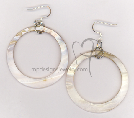 Send Me To The Beach! Mother-of-Pearl Hoop Earrings