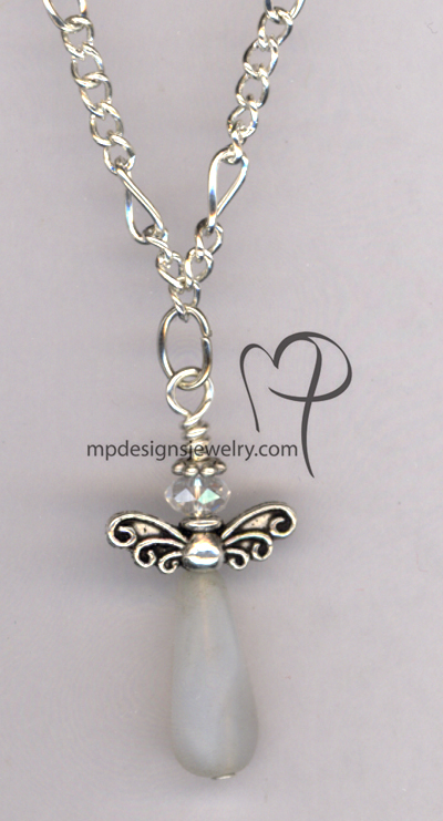Snow Angel Crystal Silver Necklace