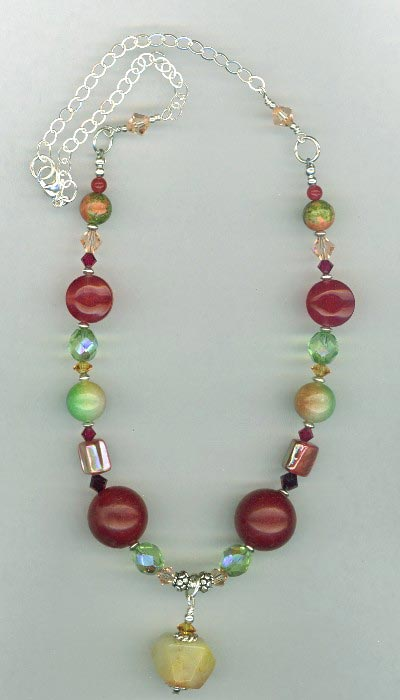 red jade mix necklace