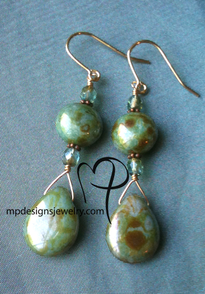 Golden Moss Earrings