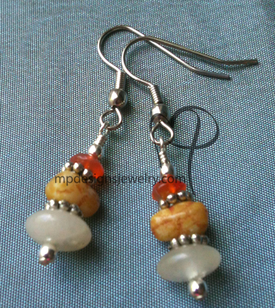 Pebbles ~ Gemstone Stacked Earrings
