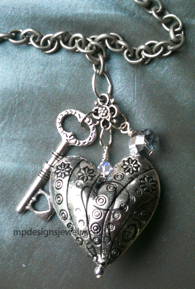 Lock & Key Charm Necklace