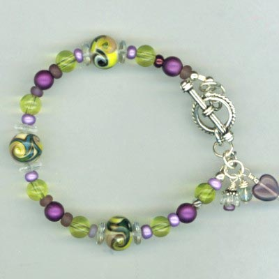 purple Yellow LW bracelet