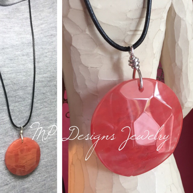 Cherry Quartz ss pendant necklace