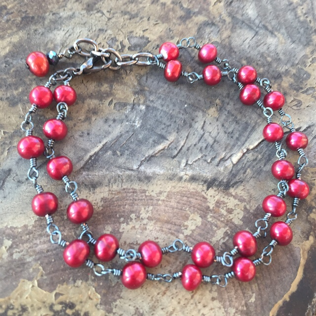 Cranberries bracelet pearls