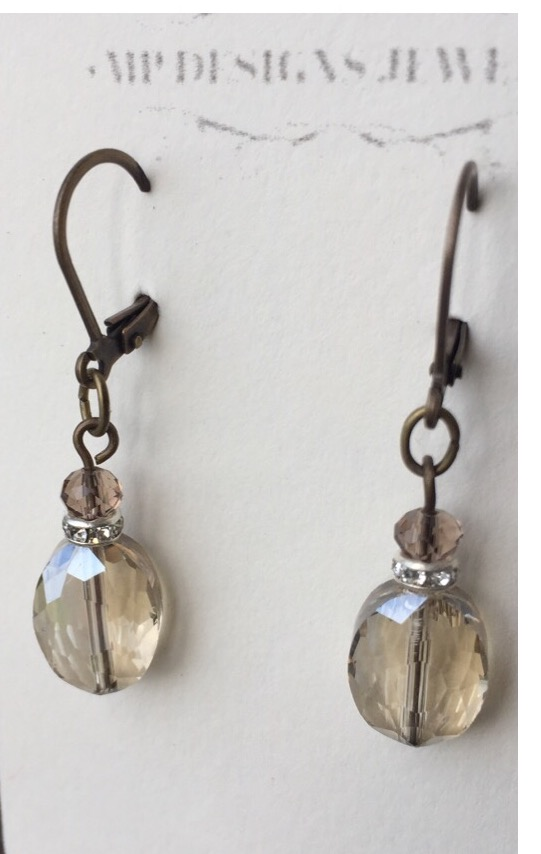 Vintage Champagne Gold Earrings