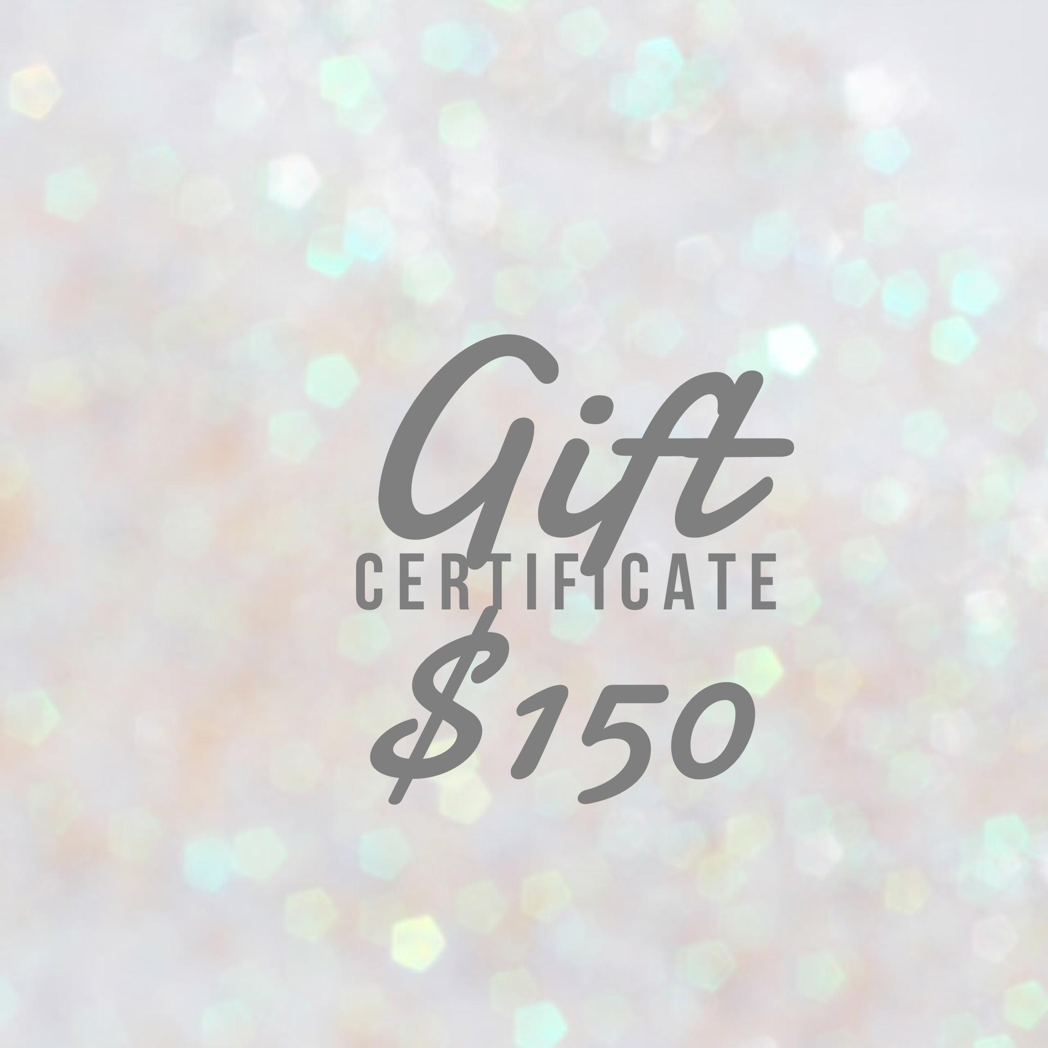 Gift Certificate $150