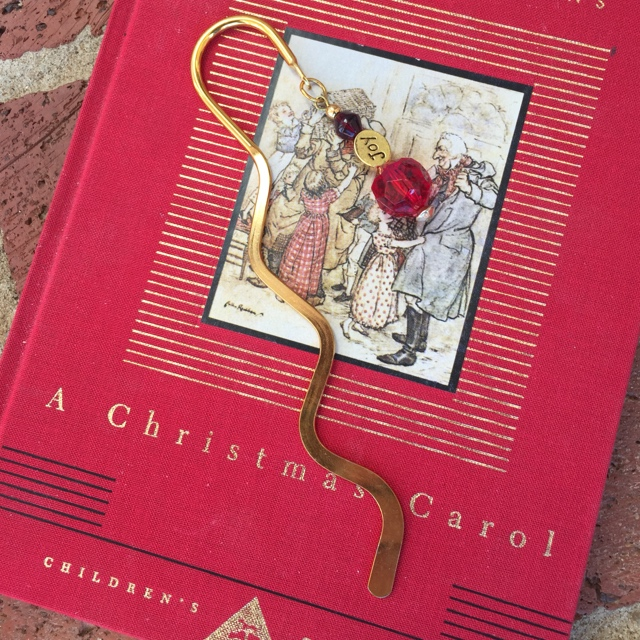 Bookmark ~ Joy in Red and Gold