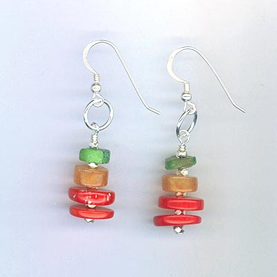 Southwest stacked earrings