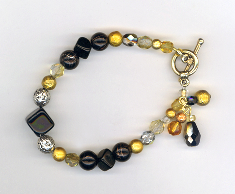 black gold holiday bracelet