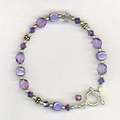 tanzanite little girl bracelet