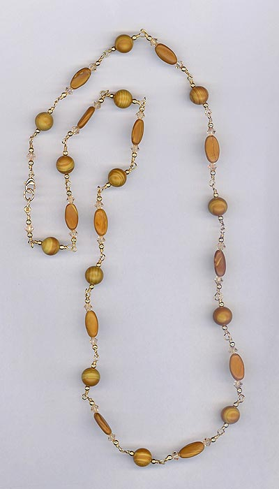Gold Leaf Agate Necklace