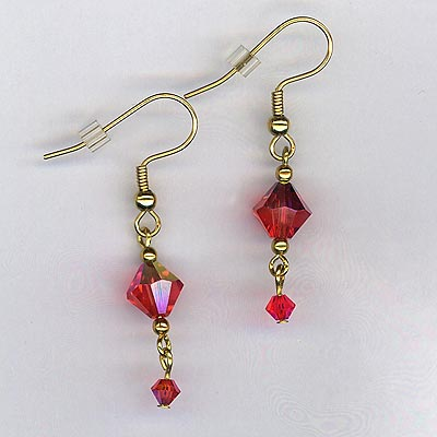 padpara crystal earrings