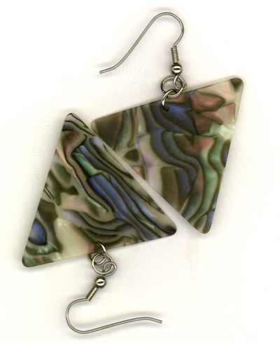 Retro Swirl Traingle Guitar Pick Earrings