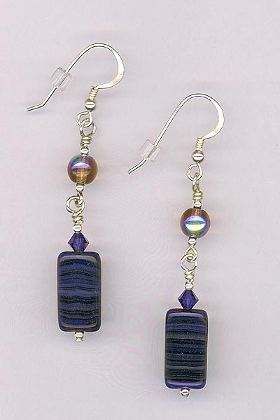 montana blue brown earrings